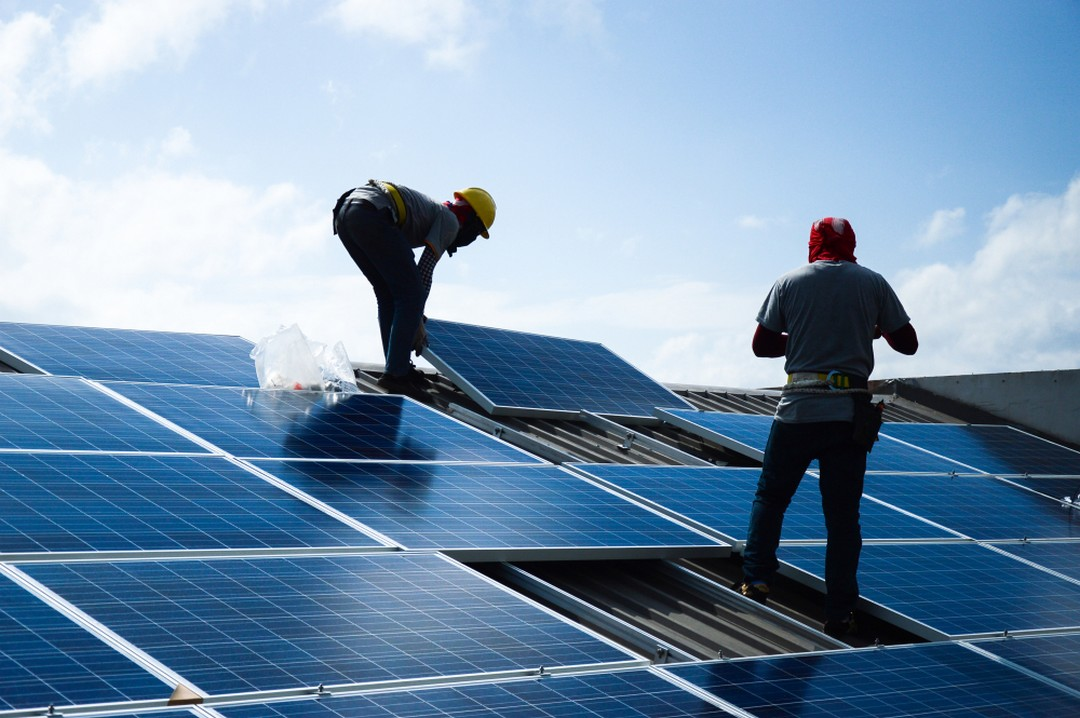 construction d'un panneau solaire